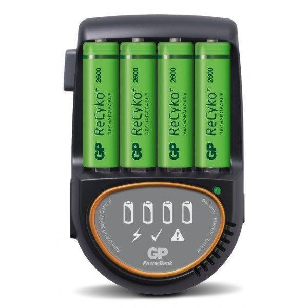 GP PowerBank H500 12V/230V kabel + 4st AA R6 2600mAh