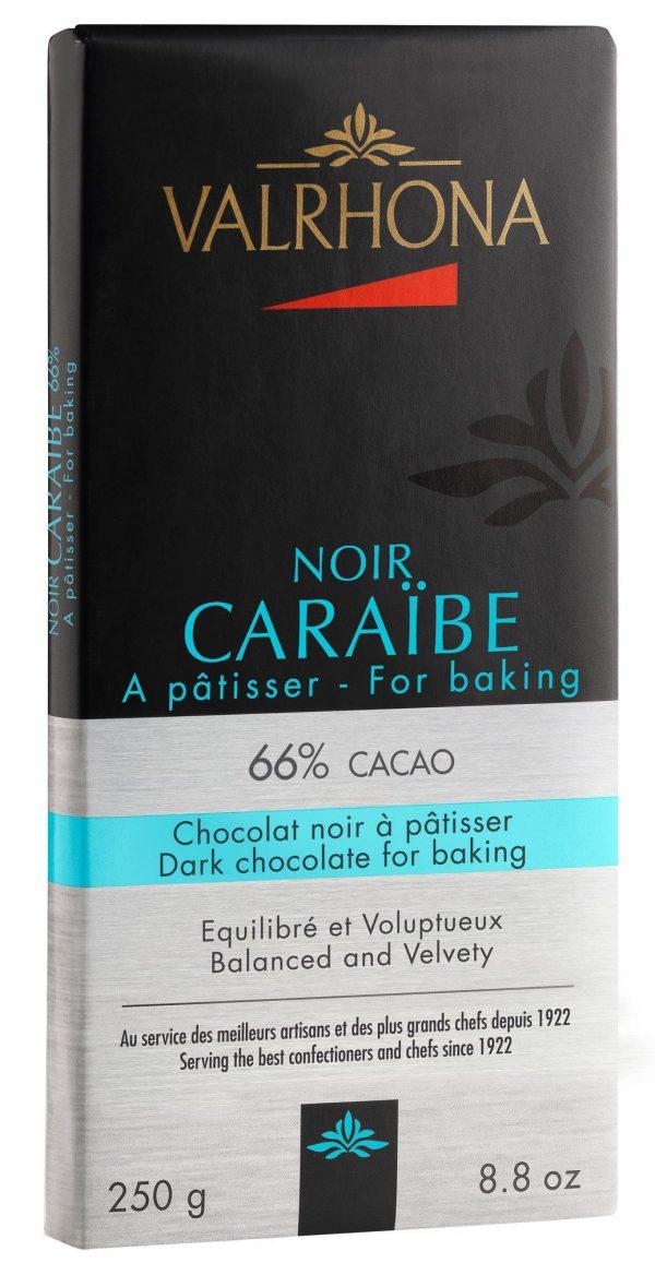 Valrhona Caraïbe 66 % 250g plade