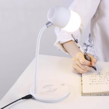 Bordslampa med högtalare & Qi laddning