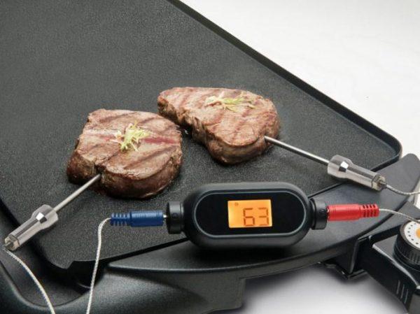 Rubicson Trådlös grilltermometer med Bluetooth och dubbla mätprober