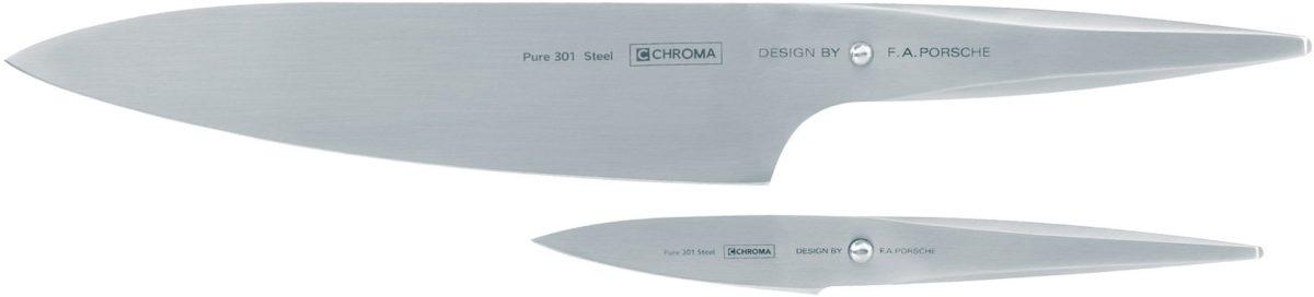 Chroma type 301 design by F.A. Porsche Knivset Kockkniv P18 och Skalkniv P9