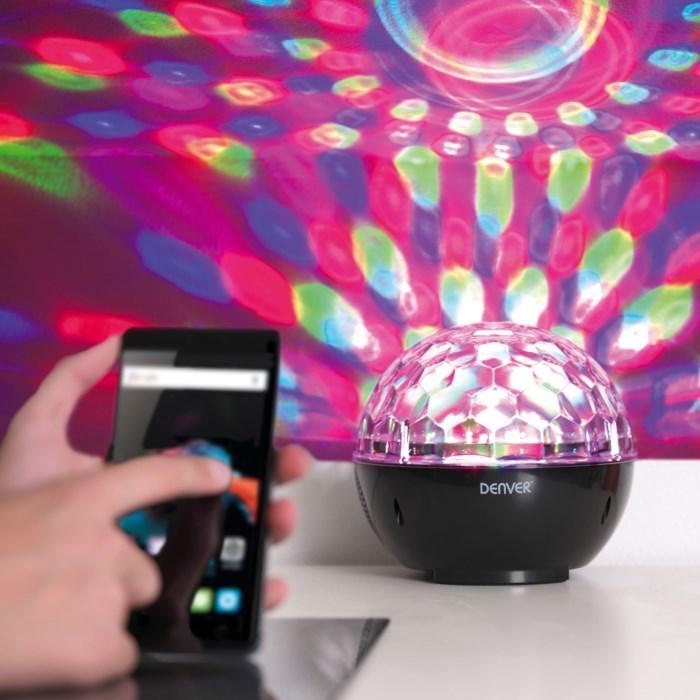 Denver Bluetooth-högtalare med discobelysning