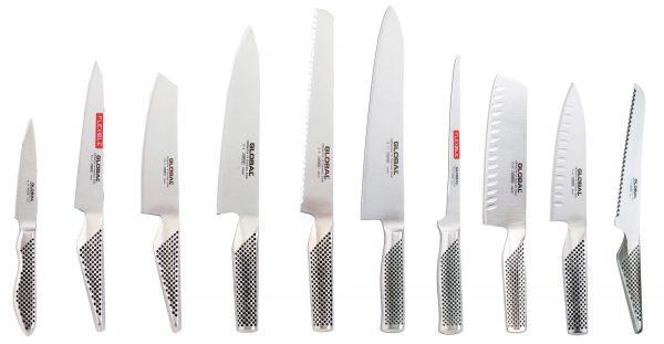 Global Knivset med 10 Knivar