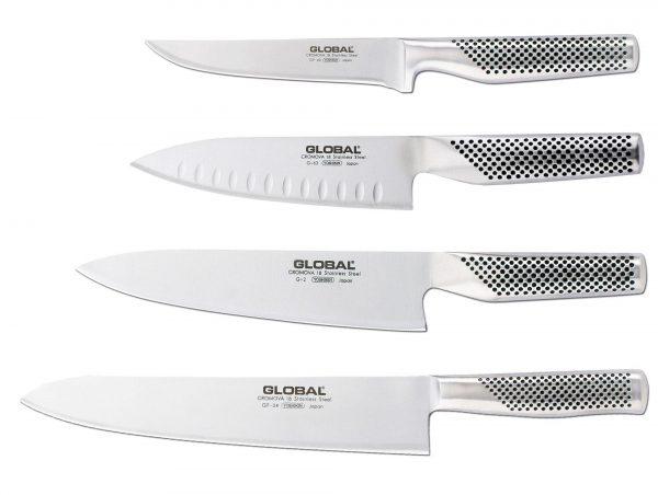Global Knivset med 4 Knivar (Köttset)