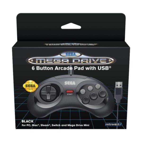 Retro-bit Handkontroll med USB-anslutning Mega Drive