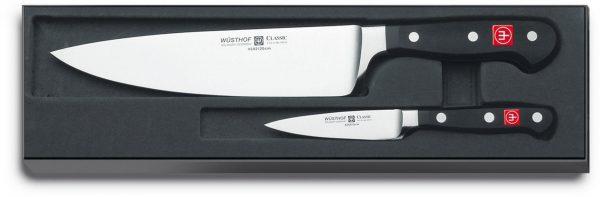 Wüsthof Classic Knivset 2 delar, Kockkniv + Skalkniv