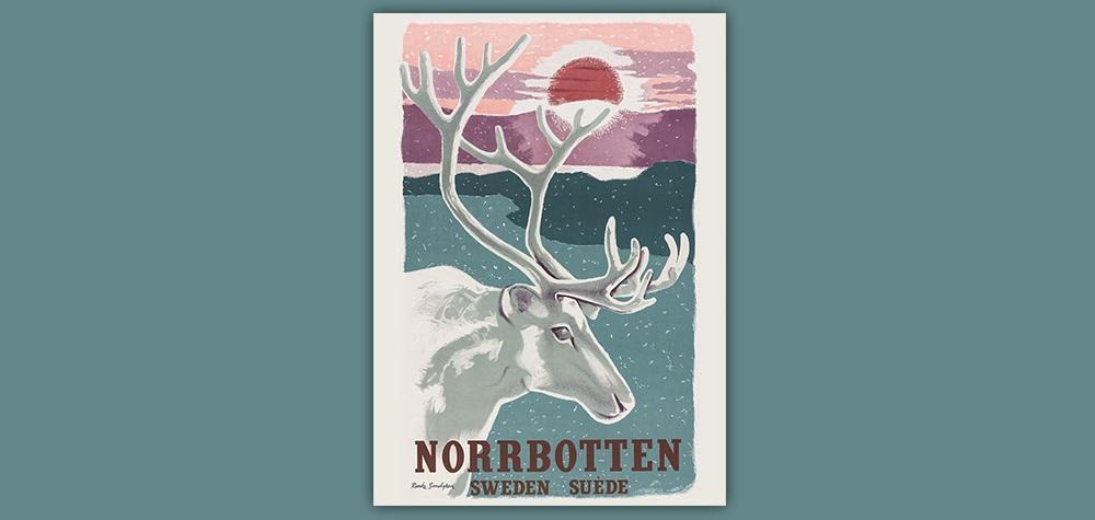 Affisch Norrbotten Sweden 50x70