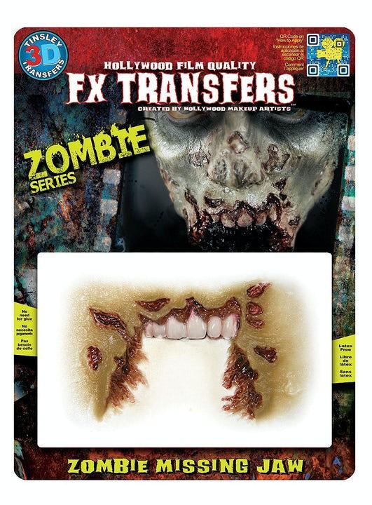 3D Specialeffekt Zombie Missing Jaw