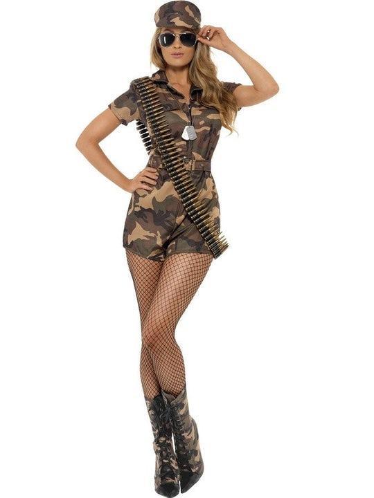 Army Girl Maskeraddräkt Medium