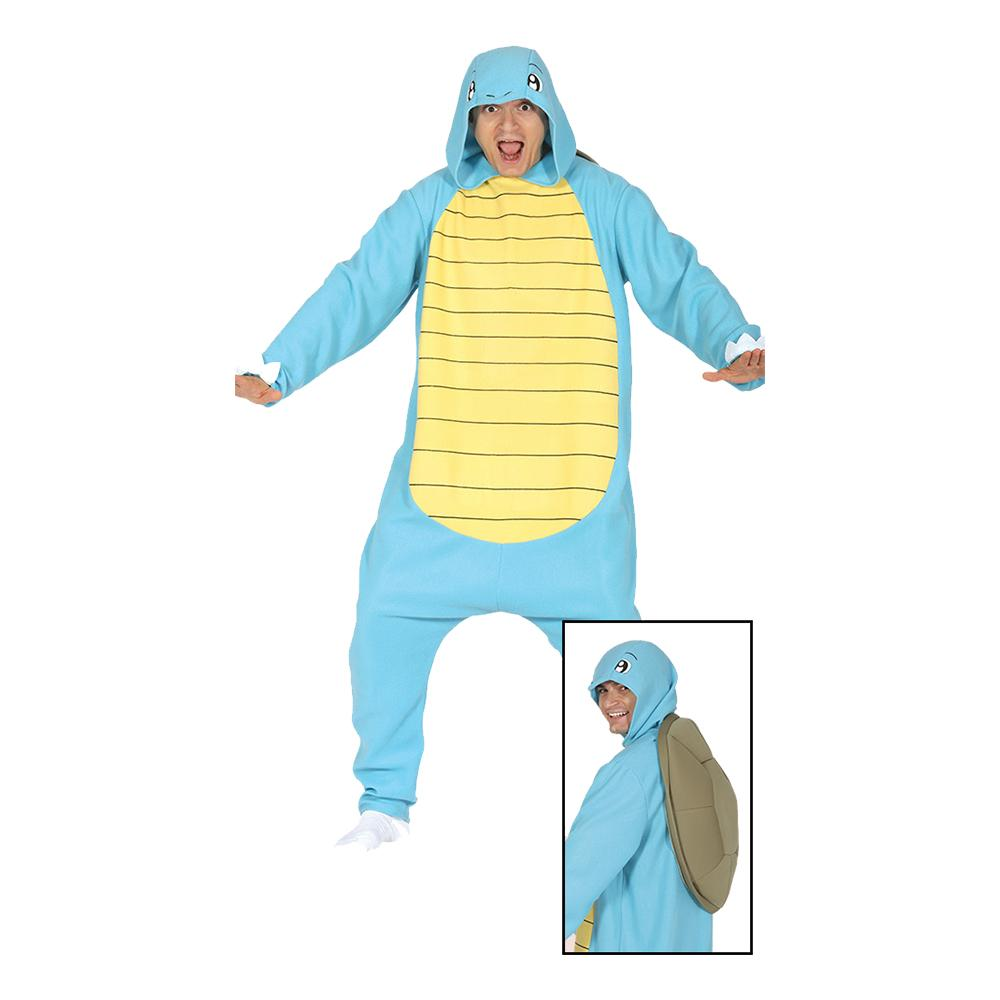 Blå Sköldpadda Maskeraddräkt - One size