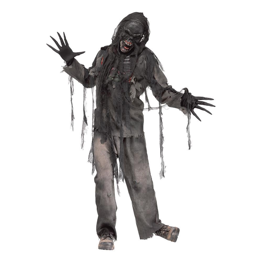 Burning Zombie Maskeraddräkt - One size