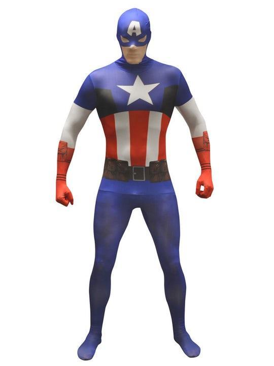 Captain America Morphsuit Maskeraddräkt (L)