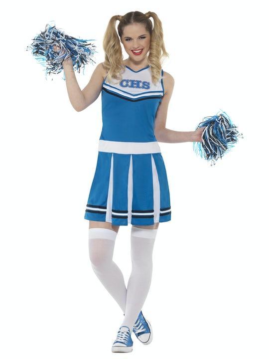 Cheerleader Maskeraddräkt Blå Medium
