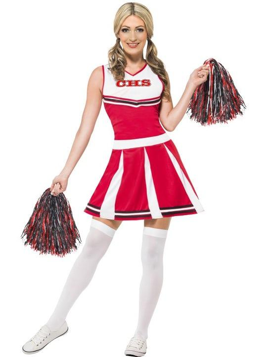 Cheerleader Röd maskeraddräkt Xsmall