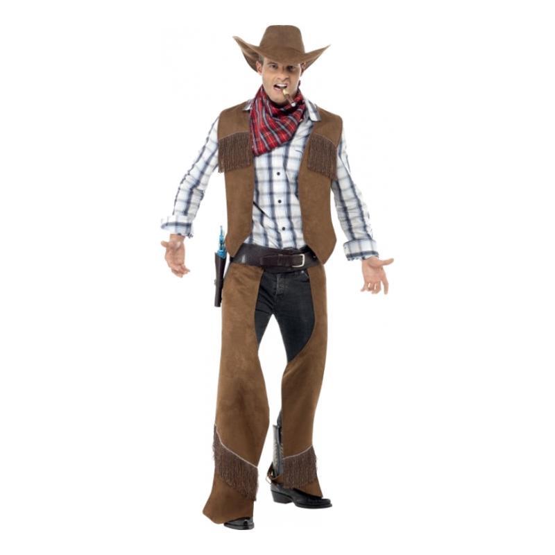 Cowboy Brun Maskeraddräkt - One size