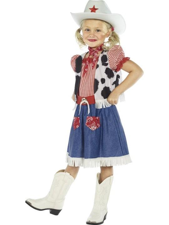 Cowgirl Maskeraddräkt Barn Medium