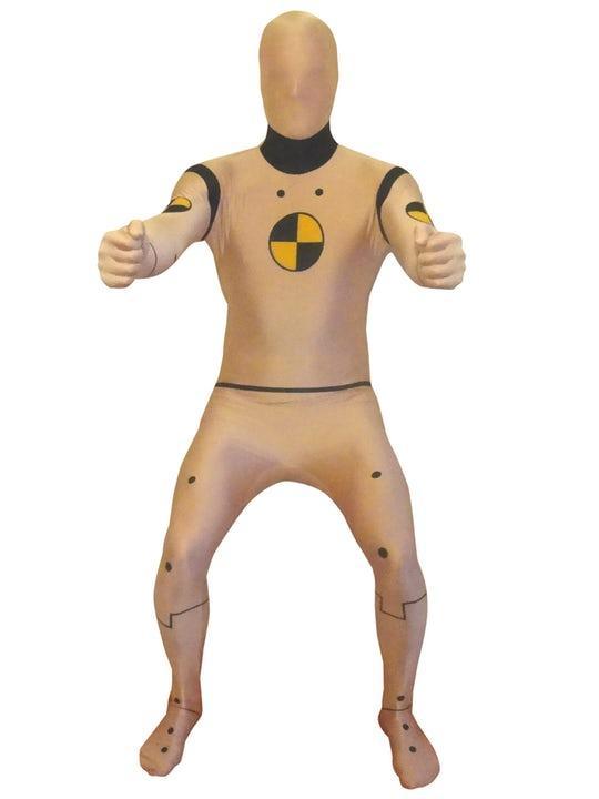 Crash Test Dummy Morphsuit Maskeraddräkt XXlarge