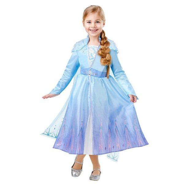 Disney Frost Elsa Deluxe Klänning Barn L