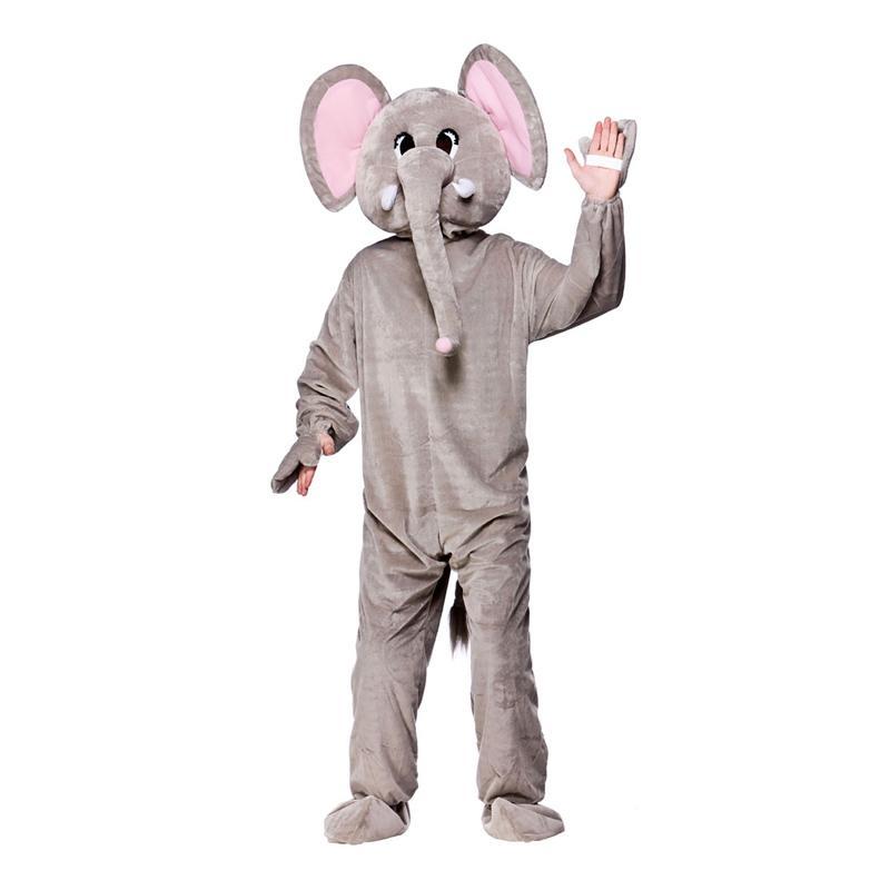 Elefantmaskot Maskeraddräkt - One size