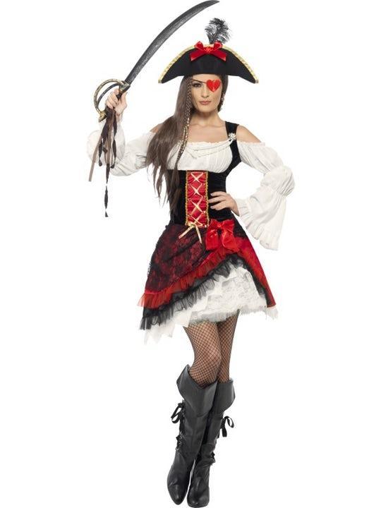Glamorös Pirat Maskeraddräkt Large
