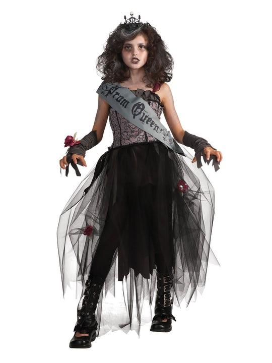 Goth Prom Queen Maskeraddräkt Barn Medium