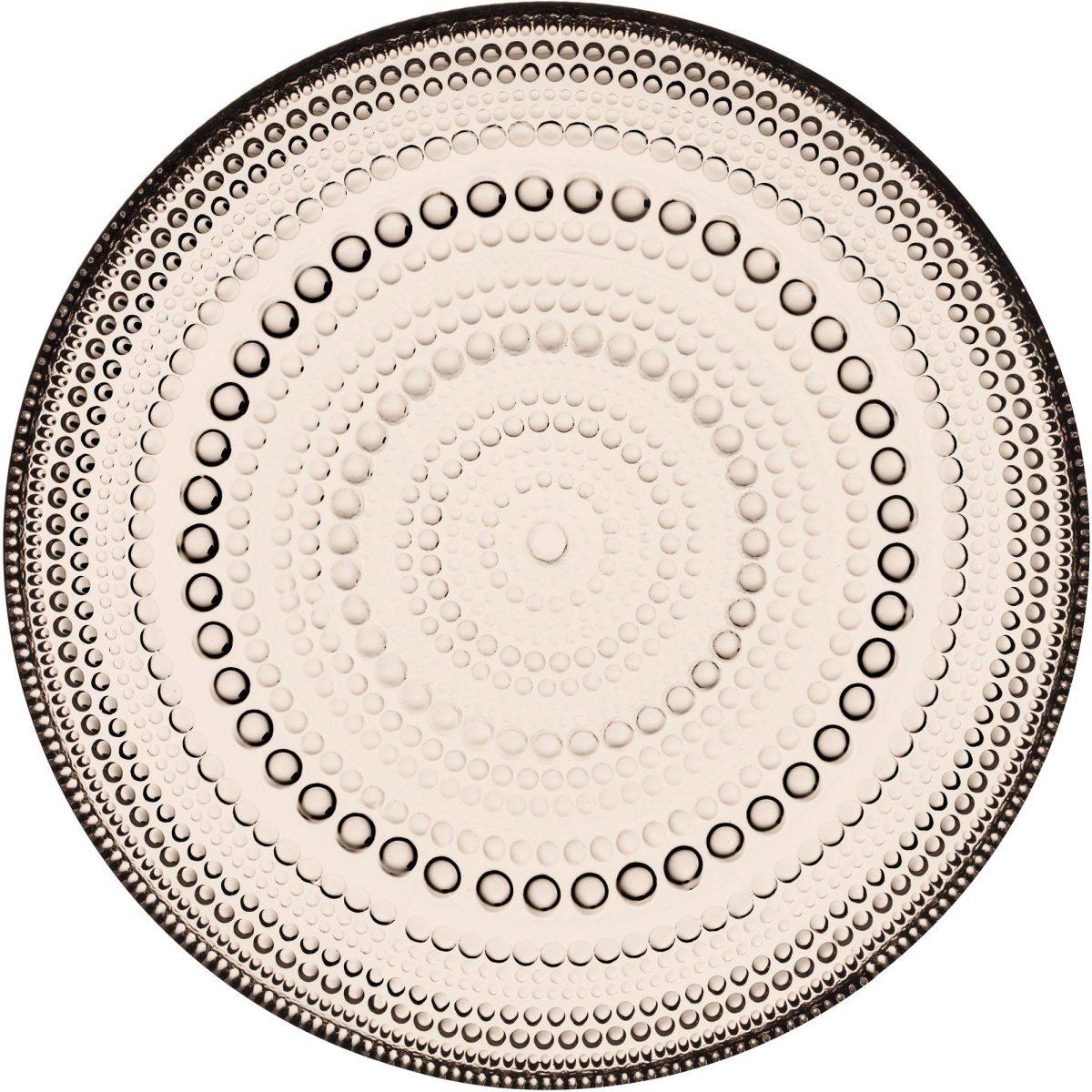 Iittala Kastehelmi tallrik 17 cm., linne