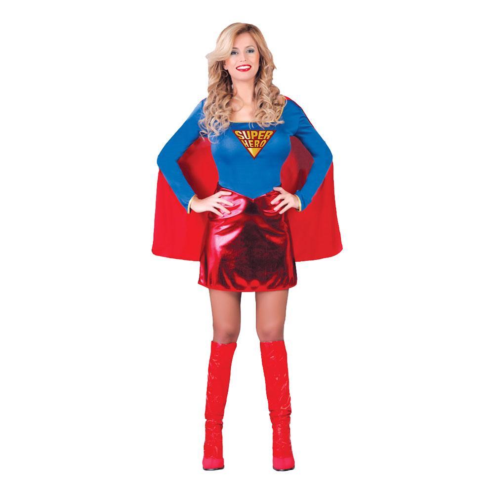 Kvinnlig Superhjälte Maskeraddräkt - One size (Large)