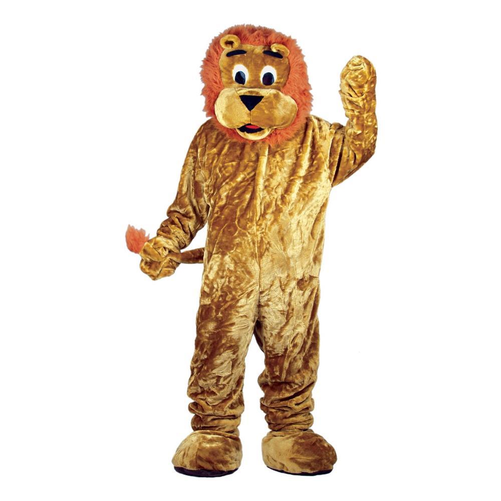 Lejonmaskot Deluxe Maskeraddräkt - One size