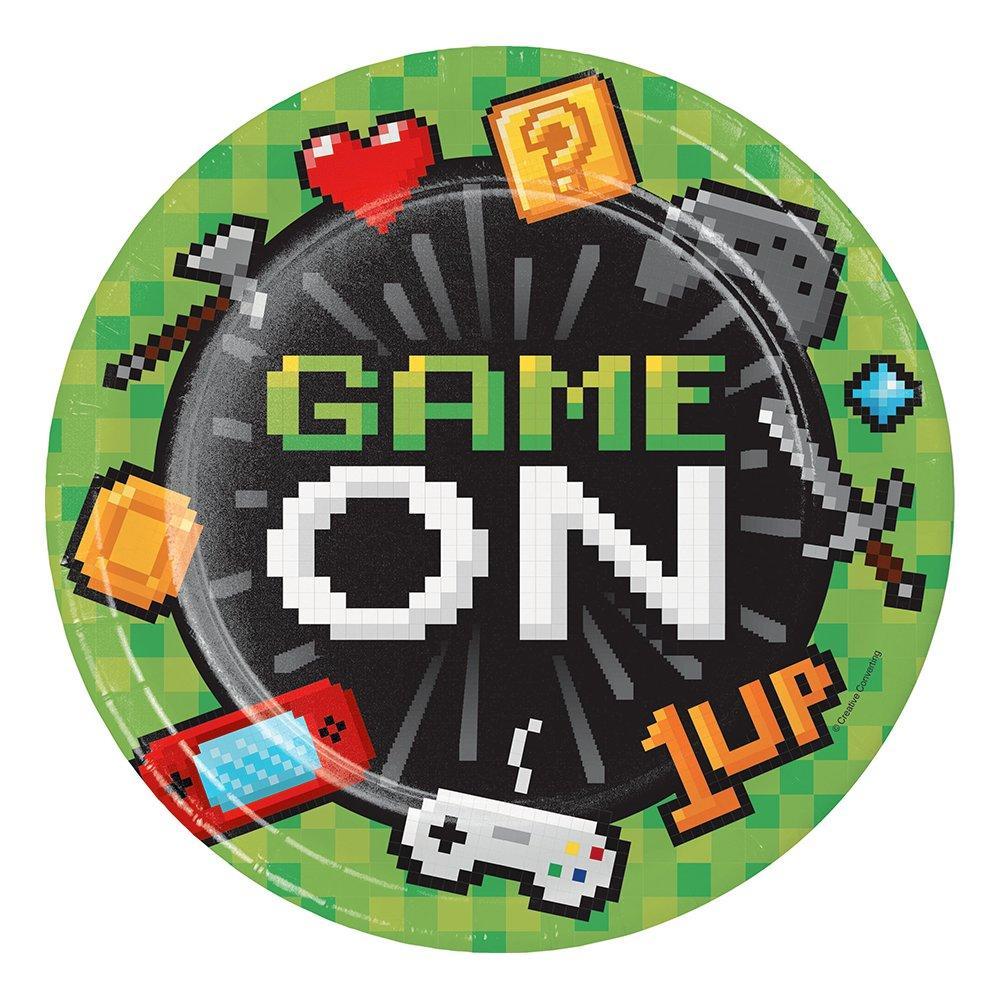Papperstallrikar Gaming Party - 8-pack