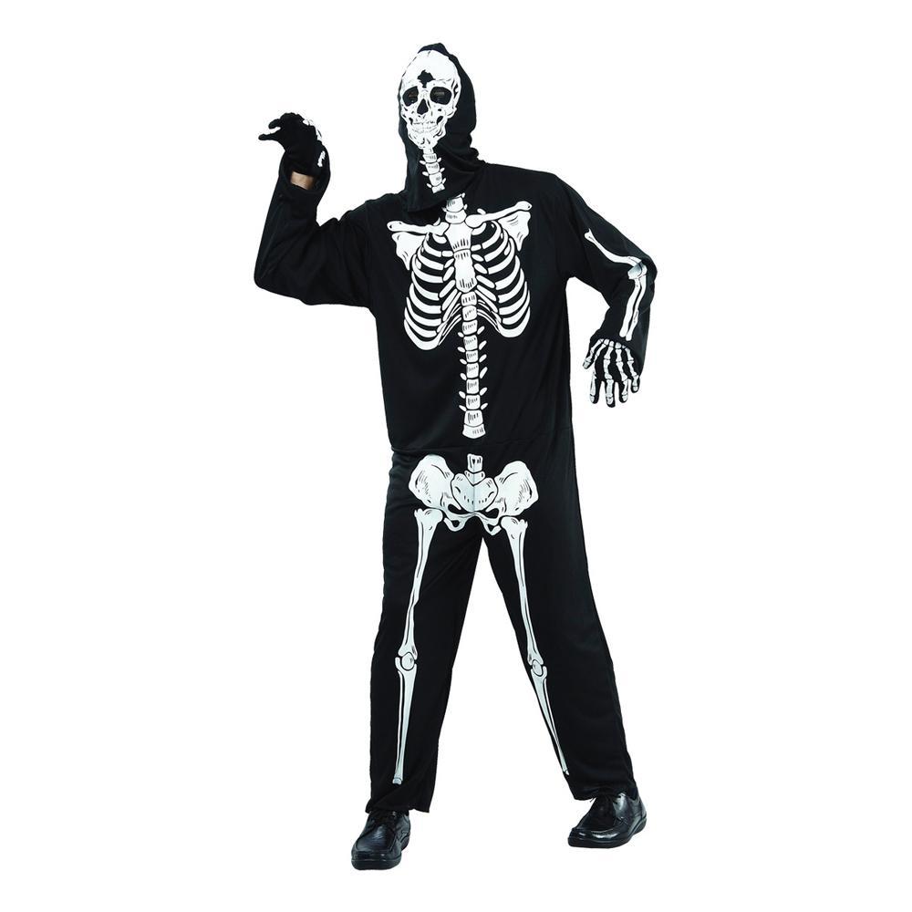 Skelett Budget Maskeraddräkt - One size