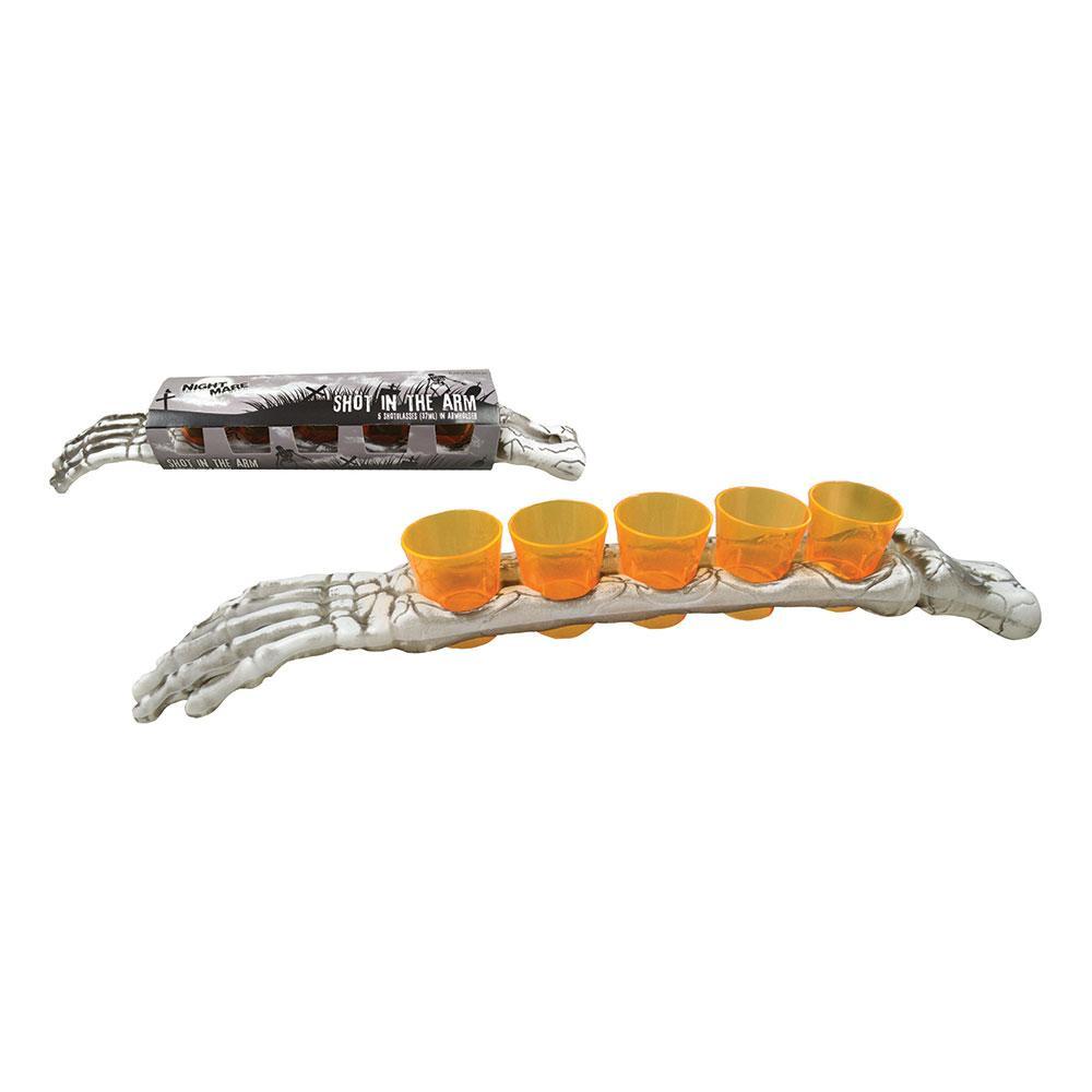 Skelettarm med Shotglas