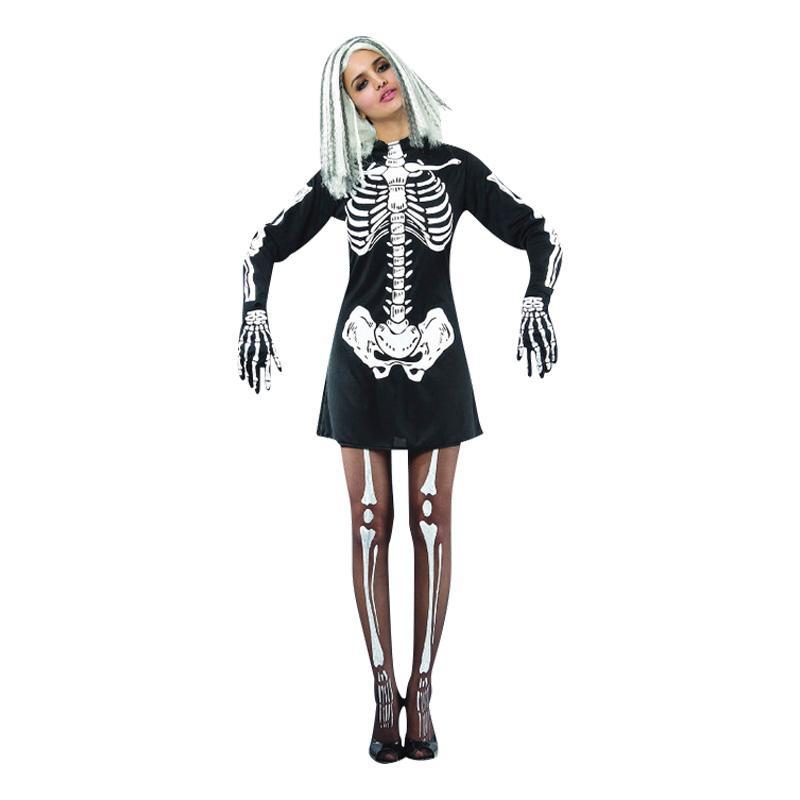Skelettklänning Maskeraddräkt - One size