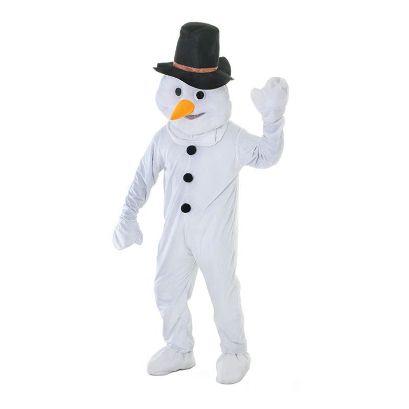 Snögubbe med Stort Huvud Maskeraddräkt - One size