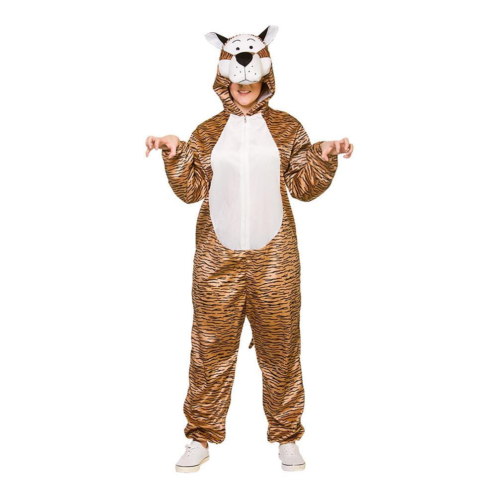 Tiger Jumpsuit Maskeraddräkt - One size