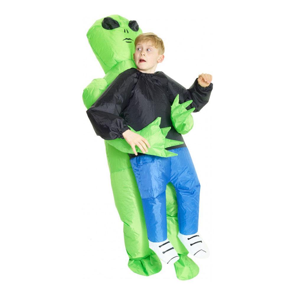 Uppblåsbar Bärande Alien Barn Maskeraddräkt - One size