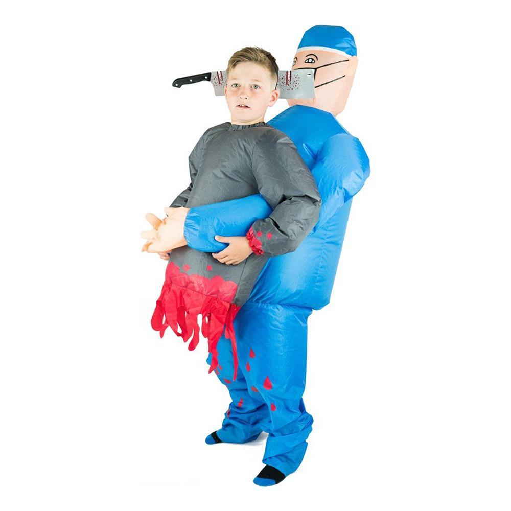 Uppblåsbar Bärande Kirurg Barn Maskeraddräkt - One size