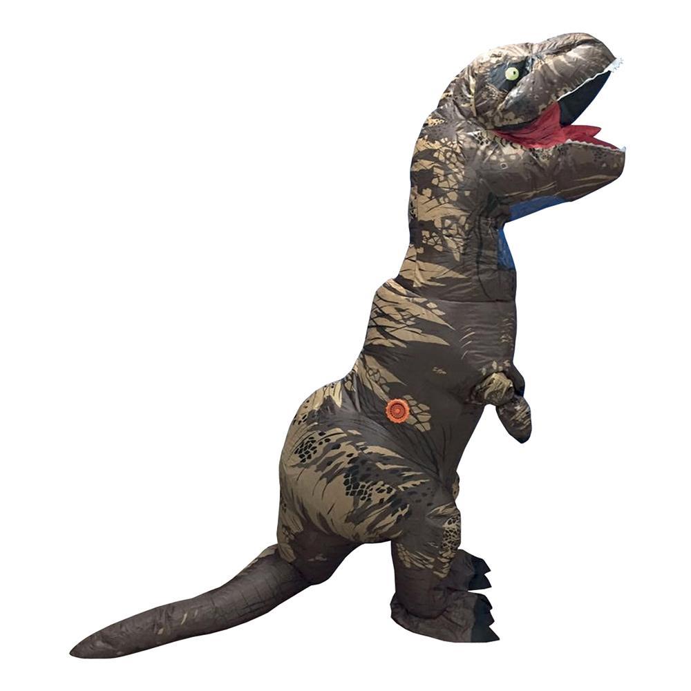 Uppblåsbar T-Rex Kamouflage Maskeraddräkt - One size