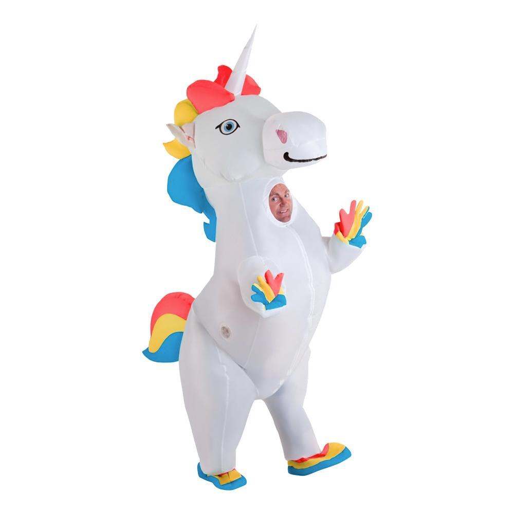Uppblåsbar Unicorn Maskeraddräkt - One size