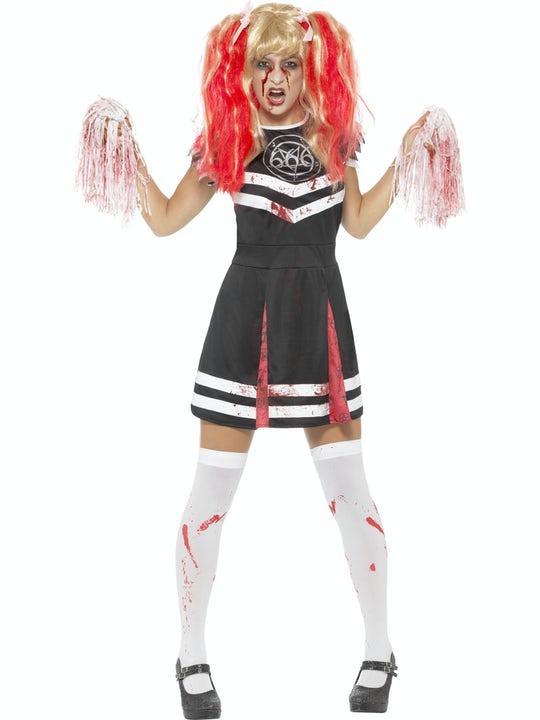 Satanic Cheerleader Maskeraddräkt Small