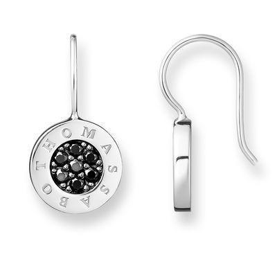 Classic hängande örhängen svart silver