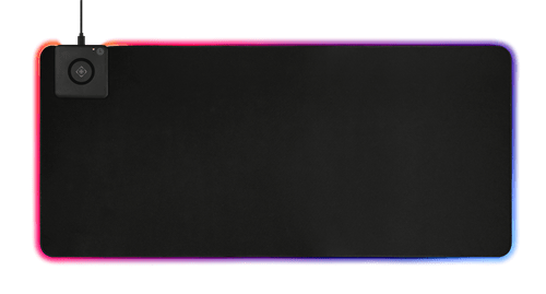 Deltaco Gaming Extra bred RGB-musmatta med trådlös laddning