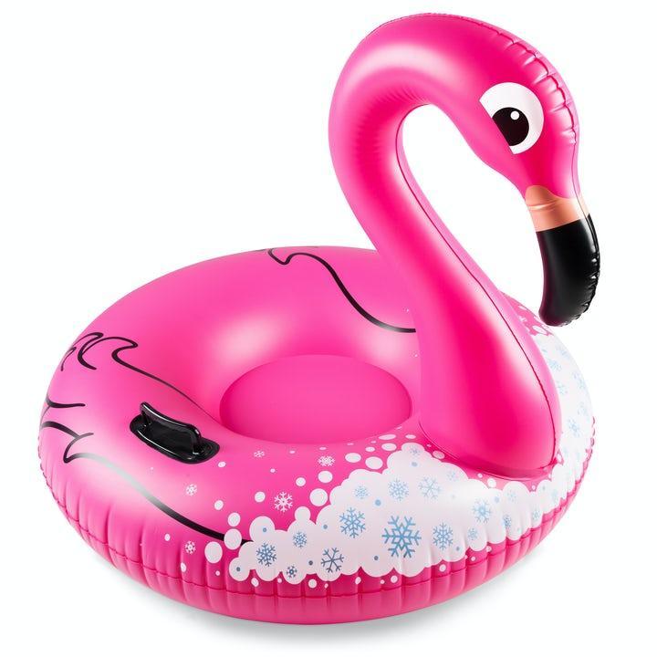 Flamingo Uppblåsbar Pulka