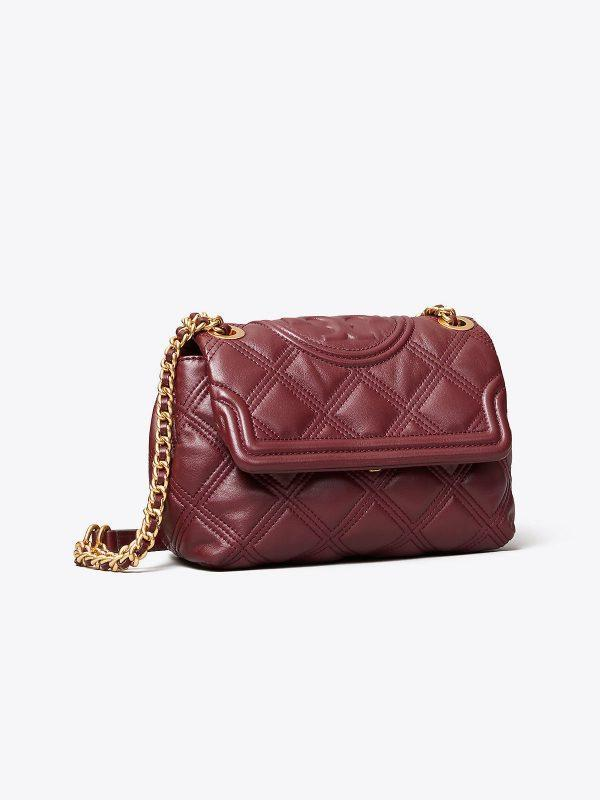 Fleming Small Convertible Shoulder Bag Claret