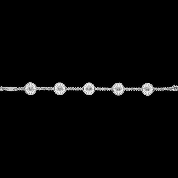 Georg Jensen Daisy Armband Silver Med Vit Emalj