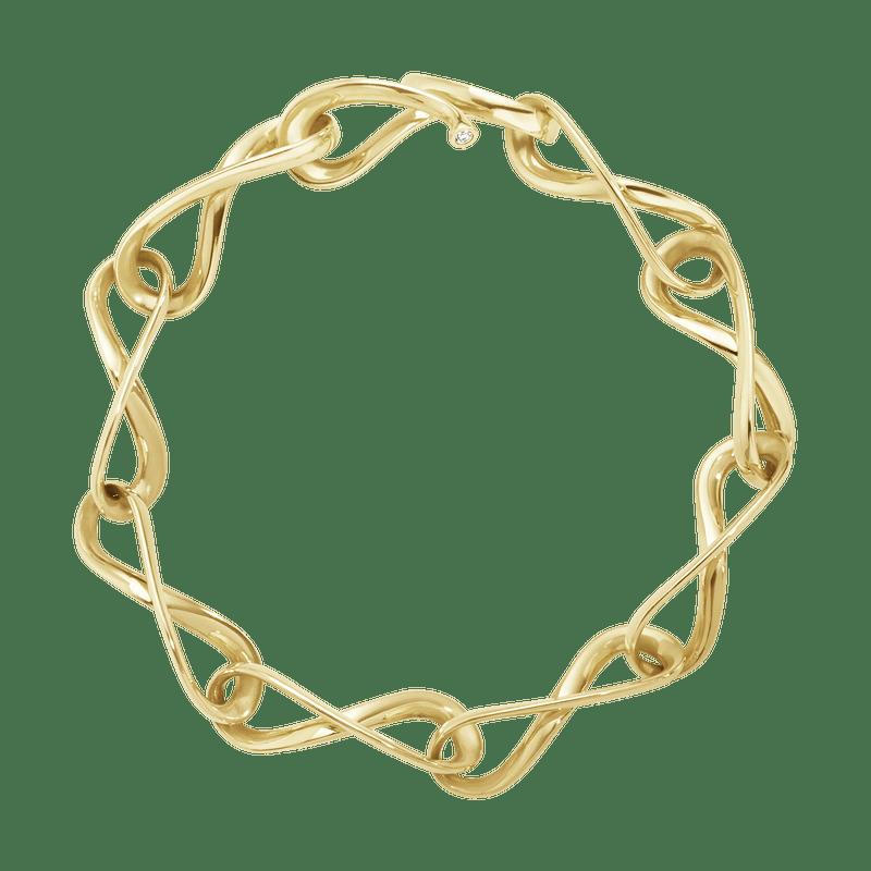 Georg Jensen Infinity Armband 18 K Gult Guld Med Diamanter
