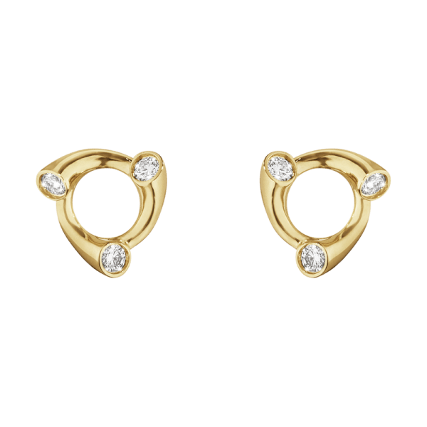 Georg Jensen Magic Örhängen Guld Med 0,12 ct Diamanter