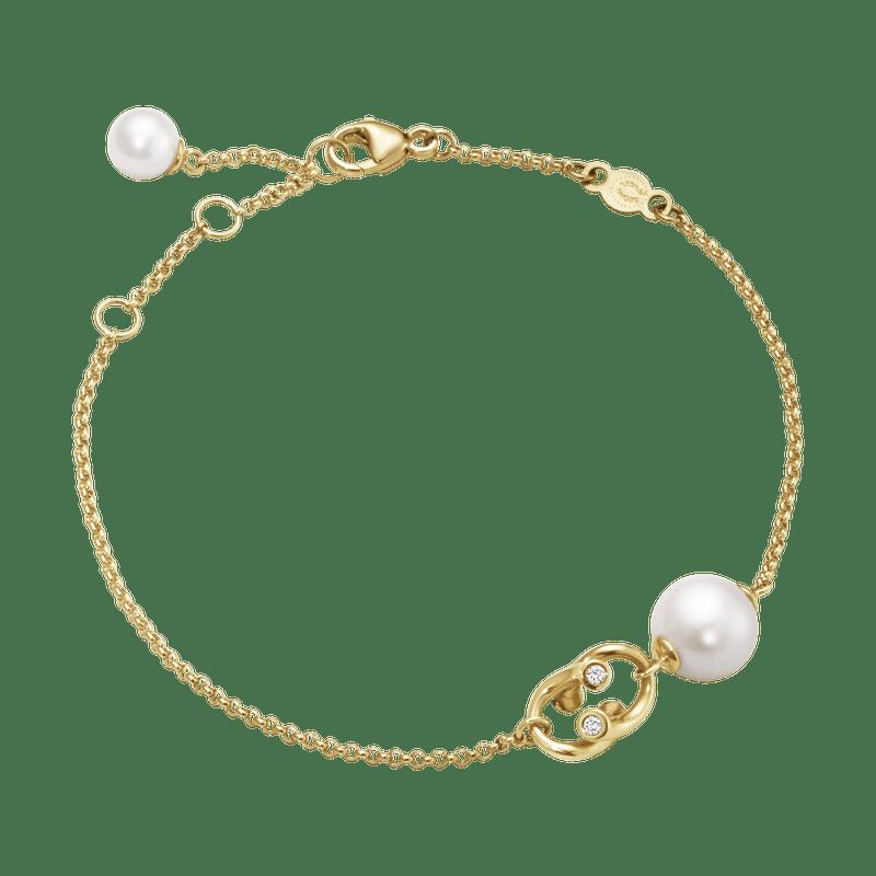 Georg Jensen Magic Armband 18 K Guld Med Pärlor och Briljanter