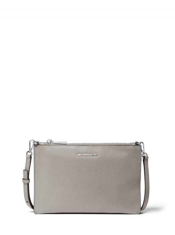 Michael Kors Large Double Pouch Crossbody Pearl Grey