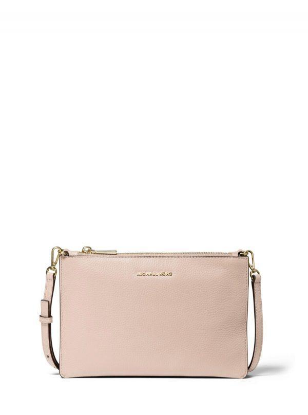 Michael Kors Large Double Pouch Crossbody Soft Pink