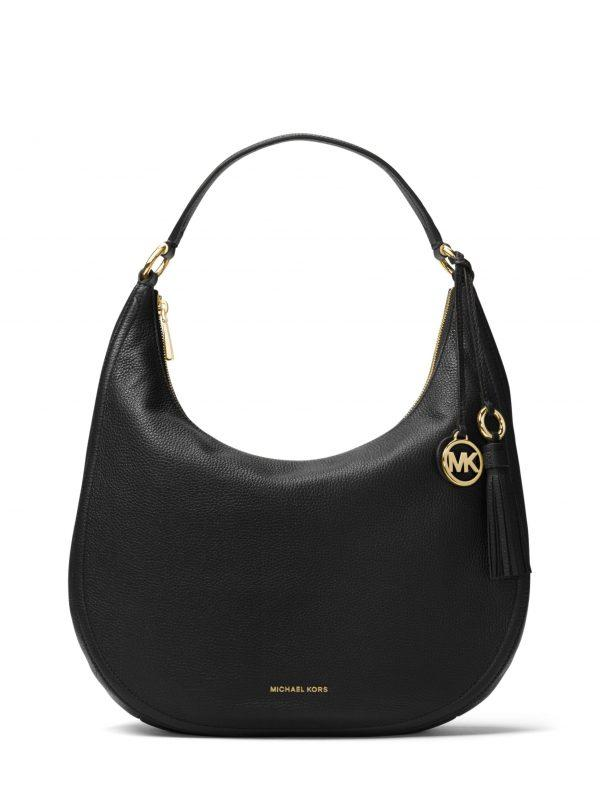 Michael Kors Large Lydia Shoulder Bag Black